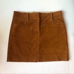 Vintage Preppy J Crew Cord Mini Skirt Size 0